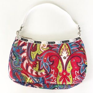 LeSportsac Paisley Shoulder Bag With Zipper